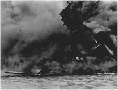 The Arizona is sunk during Japan's attack on Pearl Harbor on December 7th, 1941.